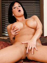 Sympathetic brunette babe with cute smile Tory Lane shows off her sweet forms