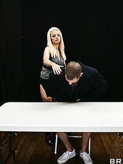 Blonde bandit with huge breast Delta White got a big bad boy's cock