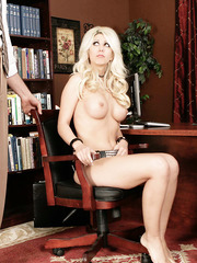 No one can resist fascinating blonde milf with big boobs named Jazy Berlin