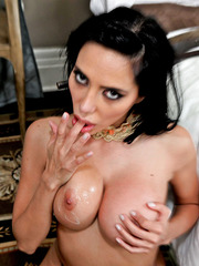 Dream milf with smoking hot big tits Lela Star got a great cumshot on her sexy boobs