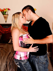 Flexible blonde with big tits Charisma Cappelli pounded by powerful cock
