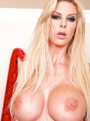 Excellent blonde milf with stunning forms and really mesmerizing face - Brooke Banner