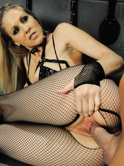 Lucky man gets dominated by hot and naughty blonde milf Julia Ann