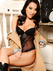 Asian first-class bombshell Asa Akira is happy to present you her alluring body