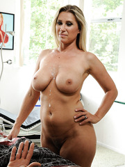 Big titted blonde milf Devon Lee presents delicious sex at her own home