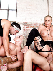 Exciting anal foursome action with two milfs Phoenix Marie and Sadie Swede