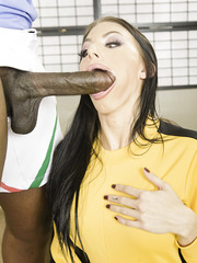 Hardcore interracial fuck with a hot brunette bitch named Juelz Ventura