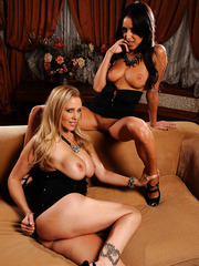 Passionate lesbian action with a sexy girl Breanne Benson and Julia Ann