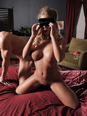 Blindfolded girl Nicole Aniston in the amazing and hardcore action