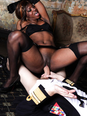 Interracial fuck with a horny ebony bitch named Jasmine Webb