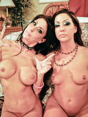 Crazy and hot threesome with Jessica Jaymes and Tiffany Brookes