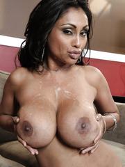 Nasty and busty babe Priya Anjali Rai spreads her legs and gets a big cock