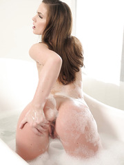 Sweet and hot fuck with a gentle babe Lily Carter in the bathroom