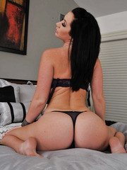 Great action with a horny brunette babe whose name is Jayden Jaymes