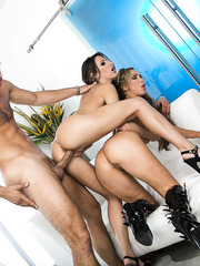 Sweet and hot threesome with lesbian milfs named Kortney Kane and Nikki Benz