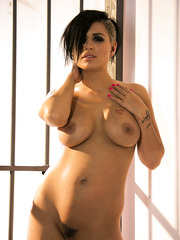 Hardcore brunette prisoner Eva Angelina has sweet big tits and gentle shaved pussy