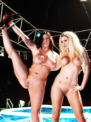 Wild lesbians Brooklyn Blue and Yuffie Yulan surprise us with their sweet bodies