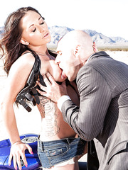 Busty babe Destiny Dixon was caught by FBI agent and fucked hardcore