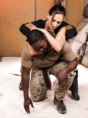 Real big titted bombshell Destiny Dixon caught by a hot soldier and fucked sweet