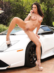 Luxury car needs luxury car-washers Kirsten Price, Madison Ivy, Monique Alexander and Rachel Starr