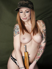 Hardcore pale skinned babe with big tits and hot tattoos Scarlett Pain