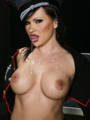 Buxom milf whore Katja Kassin pounded by a big and powerful aggregate