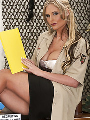 Blonde milf Phoenix Marie is a recruiting officer and she surprises us with her ass and tits