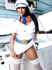 Astounding babe Priya Anjali Rai demonstrates her big tits and the boat