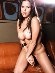 Great babe Diamond Kitty is happy to make us wild with her big tits and sweet pussy