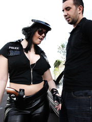 Ambitious police woman Emma Heart wants to educate bad boy with big cock