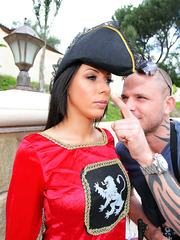 Fucking busty guard with miniature flawless pussy and hot ass Rachel Starr