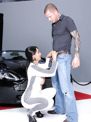 Car show turns into fantastic fuck with astonishing brunette milf Isis Love