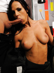 Fantastic fuck with gorgeous brunette milf Brenda Black in sexy strict uniform
