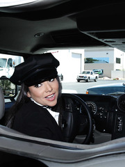 The hottest car driver Missy Martinez seduces her boss and fucks right in the car