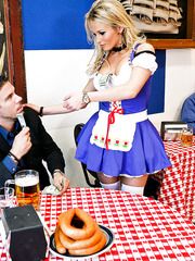 Hottest waitress from Bavaria Laura Crystal is ready to surprise hot client