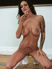 Voluptuous brunette milf Angelina Valentine got a powerful spear today