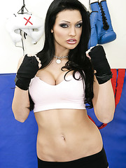 Extremely hot brunette bombshell Aletta Ocean demonstrates her incredibly sexy body