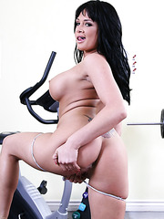 Practicing sports with hot and passionate mature brunette Tory Lane