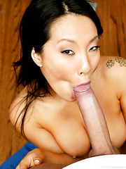 Interracial fuck with a hot Asian babe Asa Akira in the locker room
