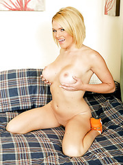 Beautiful and nasty lady Krissy Lynn plays with her naughty pussy