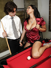 Hardcore fuck with a hot brunette babe Isis Love and her young fucker
