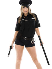 Hardcore action with a dangerous and bad cop named Courtney Cummz
