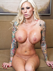 Hardcore fuck with a busty and passionate blonde mil named Lolly Ink