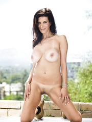 Crazy and hot brunette chick Shay Sights demonstrates her big boobs