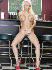 Awesome action with a sexy blonde chick Jacky Joy in the school