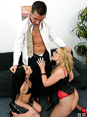 Hot threesome fuck with sweet lesbians named Flower Tucci and Luscious Lopez