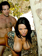 Awesome outdoor fuck with a crazy brunette milf named Sienna West