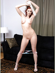 Playful lady Marsha Lord likes posing for her boyfriend and making him pleased