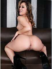 Ardent lady Kristina Rose demonstrating round ass and getting nailed