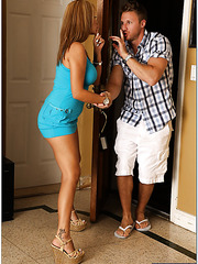 Winning blondee with naughty dreams Jamie Valentine banging in bedroom